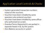 application level controls checks