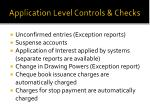 application level controls checks1