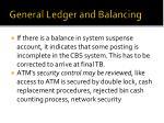 general ledger and balancing