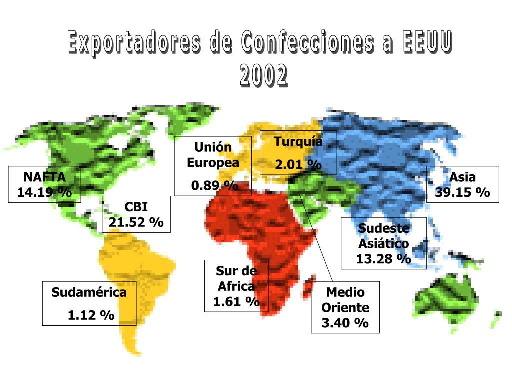 Exportadores de Confecciones a EEUU