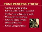 pasture management practices