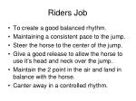 riders job