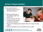 athlete s responsibilities