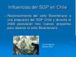 influencias del sgp en chile11