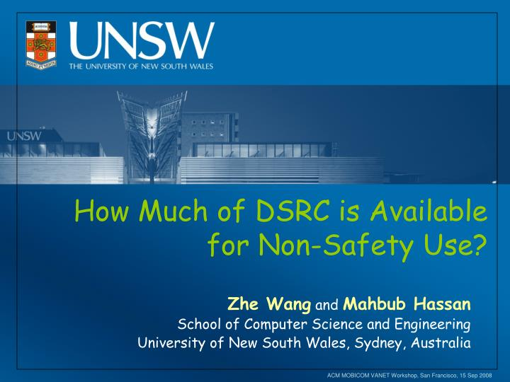 how much of dsrc is available for non safety use n.