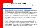 cdbg r reporting integrated disbursement and information system idis