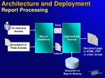 architecture and deployment report processing