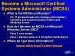 become a microsoft certified systems administrator mcsa