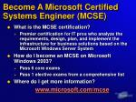 become a microsoft certified systems engineer mcse