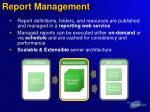 report management