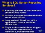what is sql server reporting services