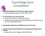 town village court consolidation