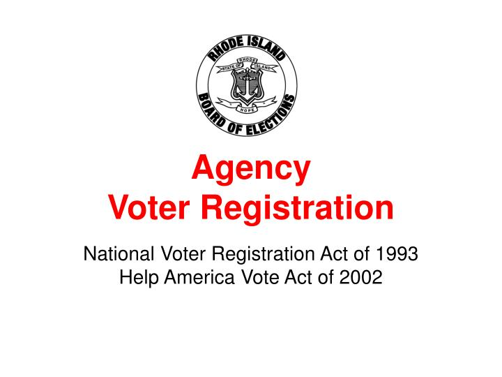agency voter registration n.