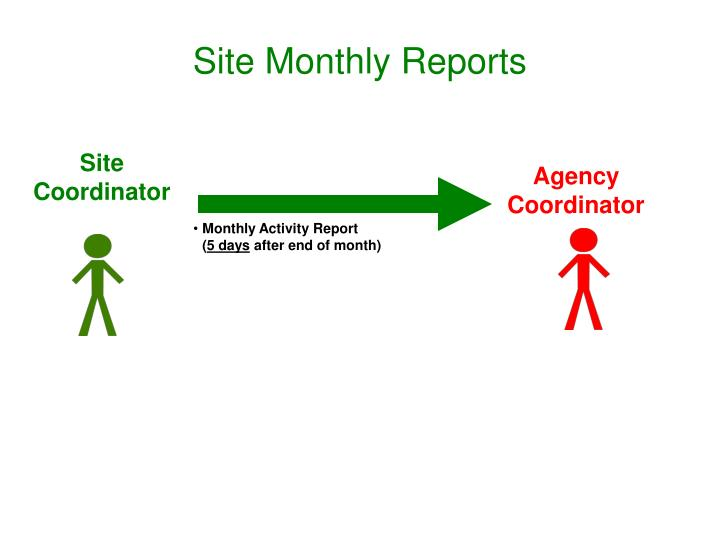 Site Monthly Reports