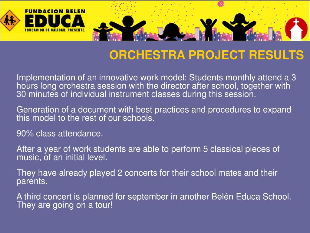 ORCHESTRA PROJECT RESULTS