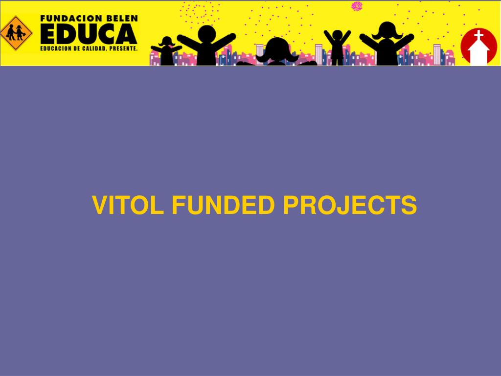 VITOL FUNDED PROJECTS
