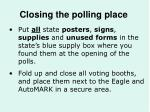 closing the polling place