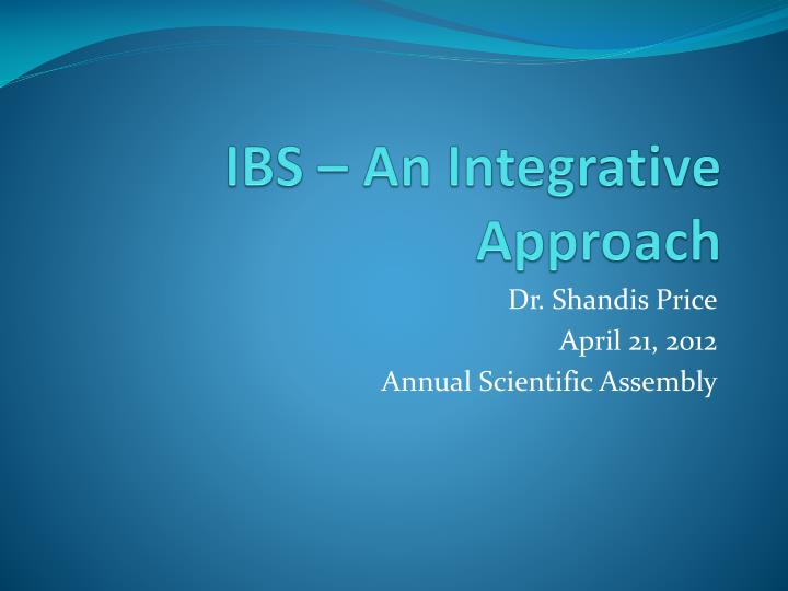 ibs an integrative approach n.