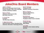 jobsohio board members
