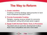 the way to reform