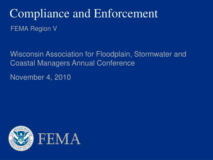 compliance and enforcement n.