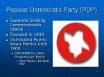 popular democratic party pdp