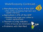 work economy continued