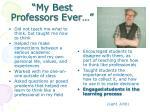 my best professors ever