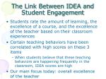the link between idea and student engagement