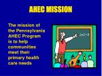 ahec mission