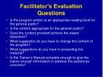 facilitator s evaluation questions