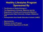 healthy lifestyles program sponsored by