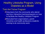 healthy lifestyles program using diabetes as a model
