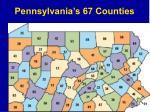pennsylvania s 67 counties