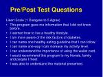pre post test questions