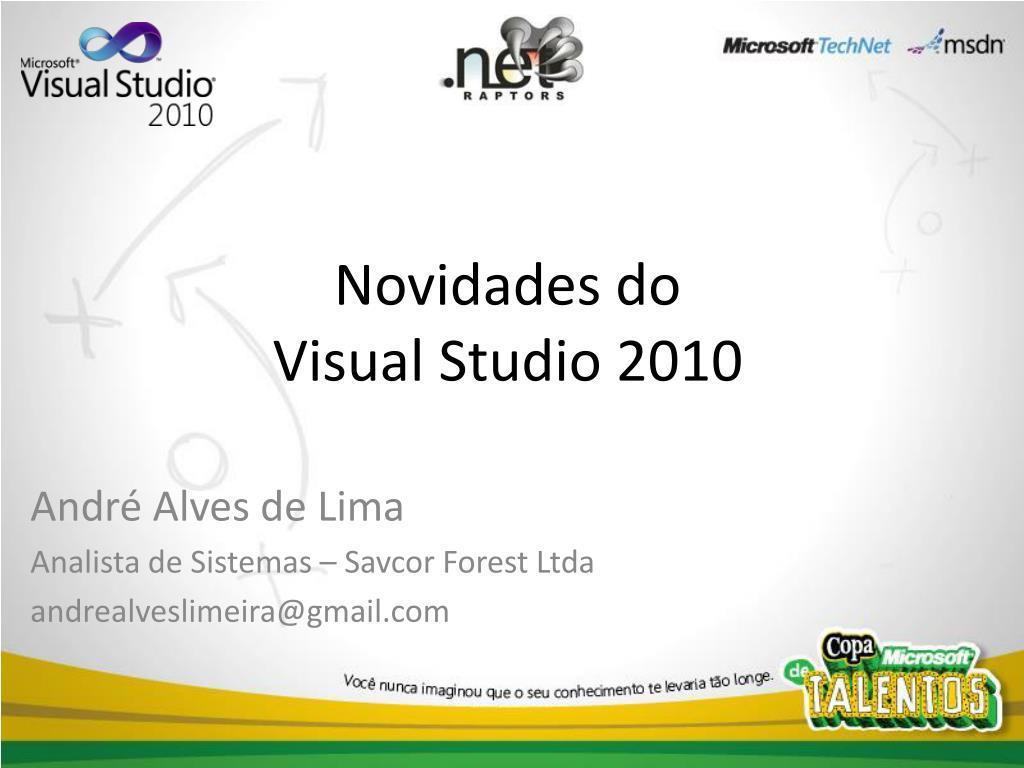 novidades do visual studio 2010 l.