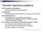 perch l opinione pubblica