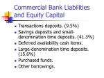 commercial bank liabilities and equity capital