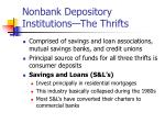 nonbank depository institutions the thrifts