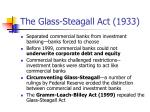 the glass steagall act 1933
