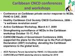 caribbean cncd conferences and workshops