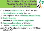 declaration of port of spain uniting to stop the epidemic of chronic ncds1