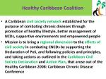 healthy caribbean coalition what is it and its mission