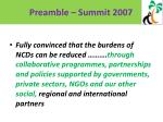 preamble summit 2007