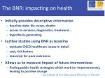 the bnr impacting on health
