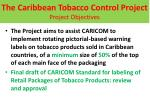 the caribbean tobacco control project project objectives1