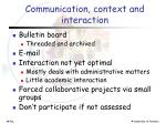 communication context and interaction1
