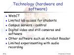 technology hardware and software1