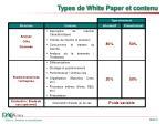 types de white paper et contenu