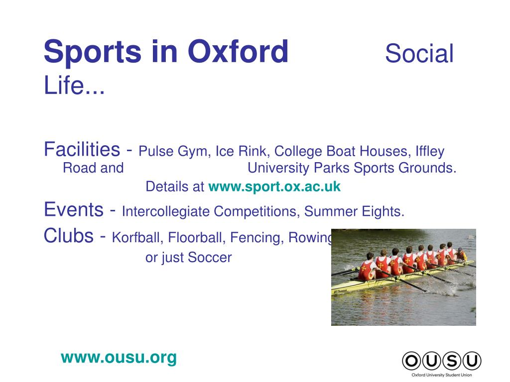 Sports in Oxford